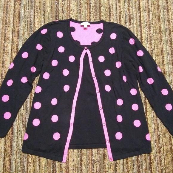 Quacker Factory Sweaters Euc Polka Dot Sweater Womens M Poshmark